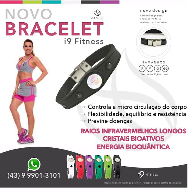 bracelete, akmos, i9 fitness, pulseira, imã, saúde, bem estar, infravermelho,