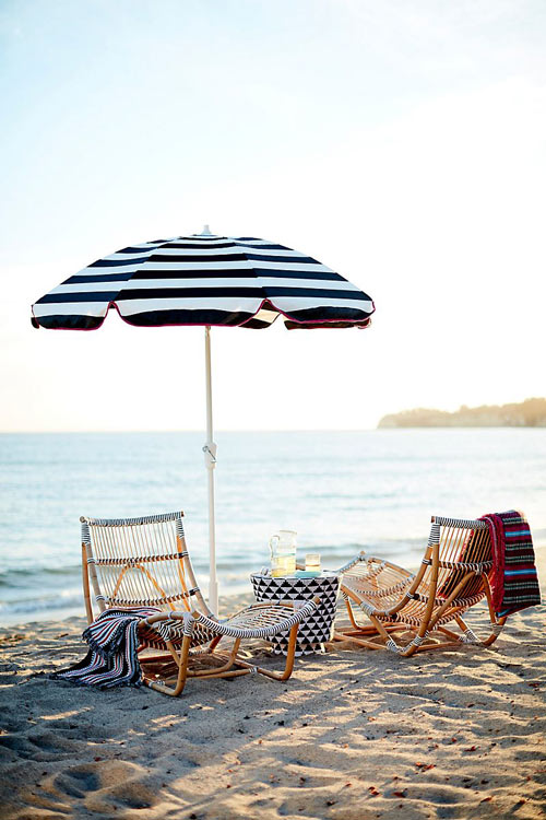 13 different styles of villa patio umbrellas