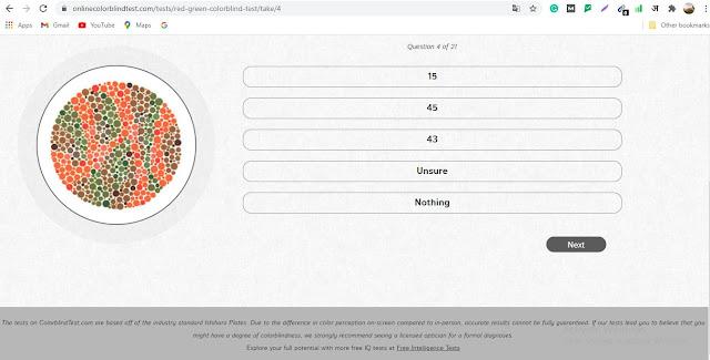 Free Color Vision Test Online