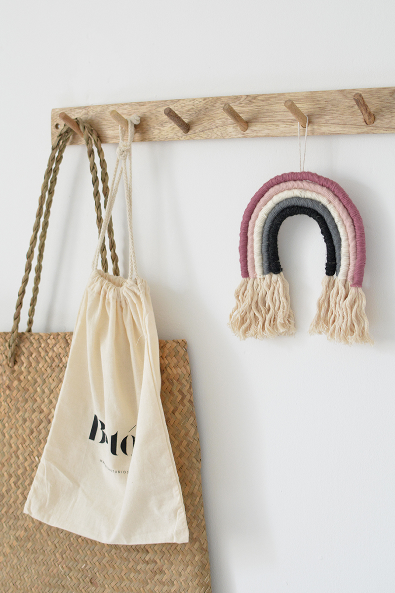rope rainbow wall hanging nursery decor