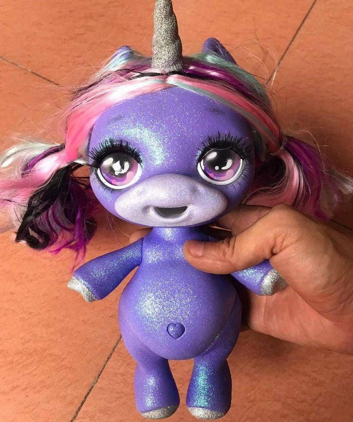 Блестящая сиреневая единорожка Пупси Glitter Poopsie Slime Surprise Unicorn