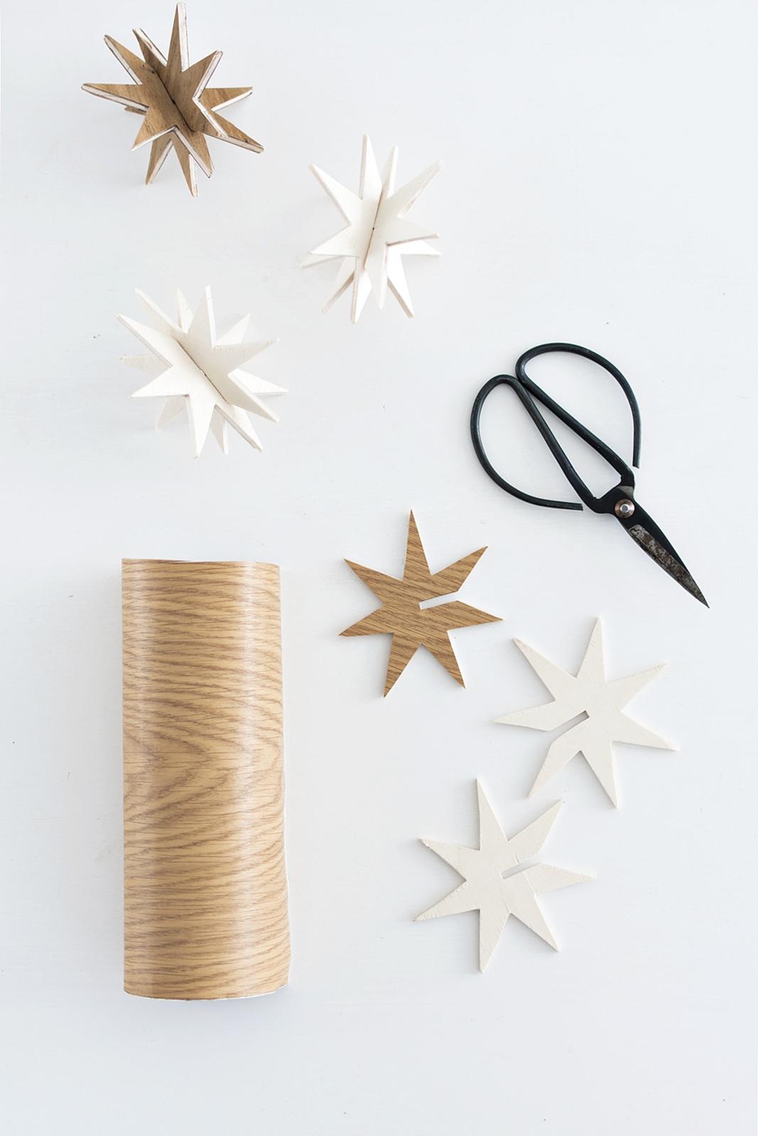 diy weihnachtsschmuck 3d holzsterne zum stecken. Black Bedroom Furniture Sets. Home Design Ideas