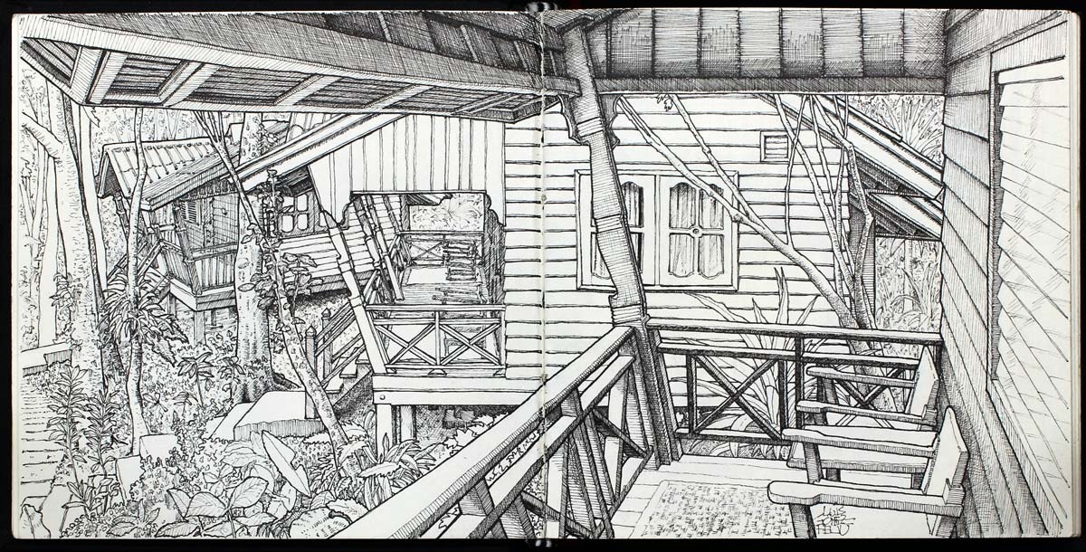 10-From-the-Veranda-Luis-Gómez-Feliu-Elucubros-Urban-Sketches-and-Interior-Architectural-Drawings-www-designstack-co