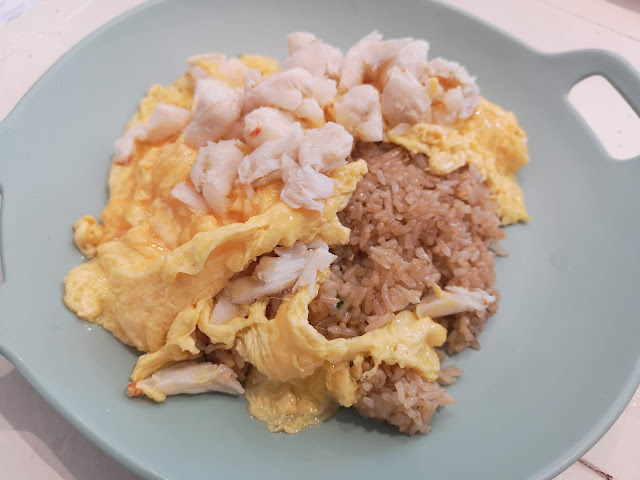 Crab Meat Omelette Fried Rice