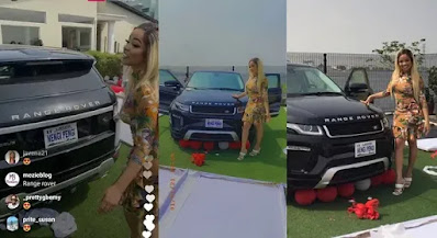 Welcome To Ladun Liadi's Blog: Fans gifts Nengi a customized Range Rover for her birthday <p data-wpview-marker=