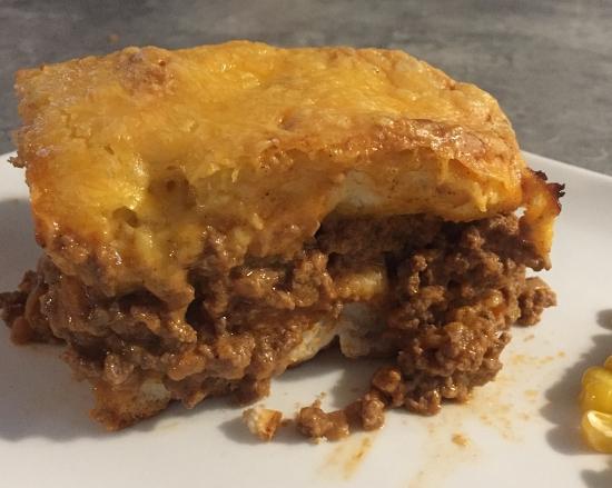 Beef Biscuit Casserole