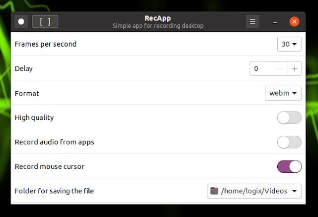 RecApp screencast tool