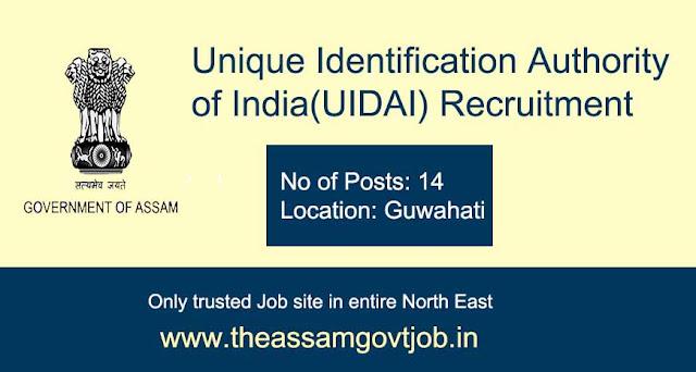 UIDAI Guwahati Recruitment 2020 assam govt job