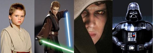 Evolución de Anakin Skywalker