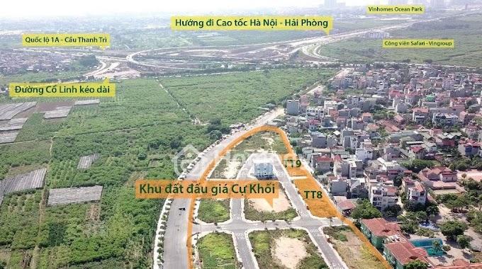 Mở Bán ĐẤT ĐẤU GIÁ tại ô QUY HOẠCH G.7/NO1, G.7/NO2, Phường Cự Khối, Quận Long Biên, Hà Nội