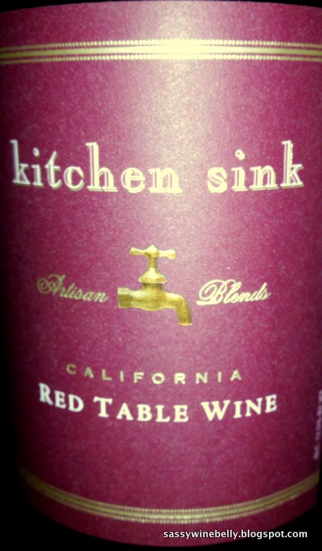 Sassy Wine Belly Kitchen Sink Red Table Wine N V California 9