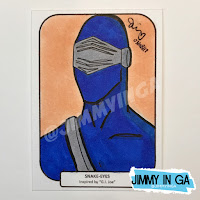 "Snake Eyes - Copic Makers on 2.5"" x 3.5"" Sketch Cards"