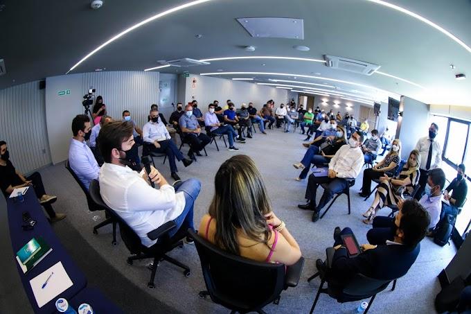 Bruno se reúne com representantes de 20 segmentos para ouvir, expor dados e anunciar medidas de novo decreto municipal de caráter preventivo em Campina Grande