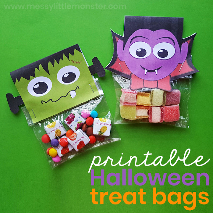 Easy Halloween Treats for Kids - printable halloween treat bags