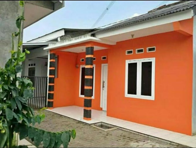 village single floor home front design indian style