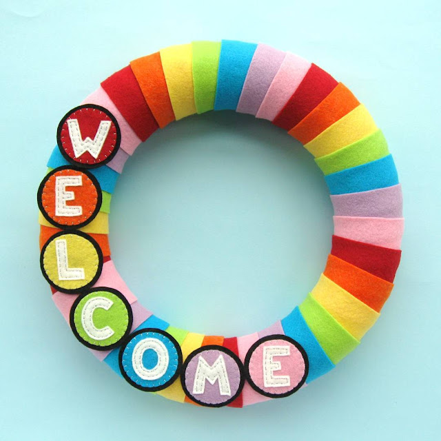 Rainbow Welcome Wreath