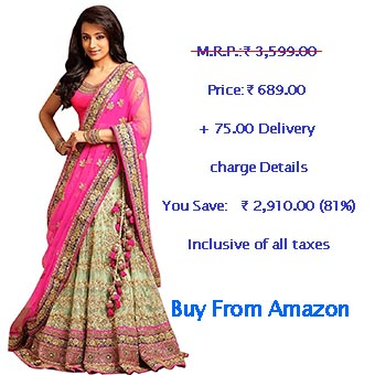 Fast Fashions Women's Pink Color Embroidered Lehenga Choli