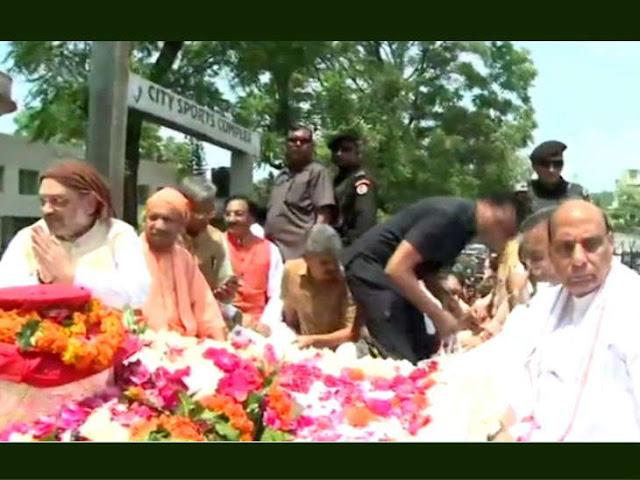 हरिद्वार में अटलजी की अस्थि कलश यात्रा शुरू, गंगा में की जाएंगी प्रवाहित; शाह-राजनाथ और योगी भी मौजूद