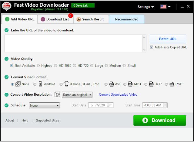 Screenshot Fast Video Downloader 3.1.0.60 Full Version