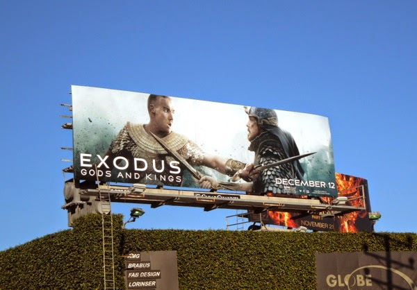 Exodus Gods and Kings Ramesses Moses billboard