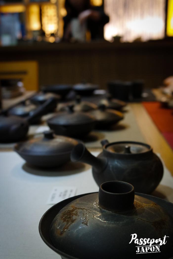 Théières, boutique Thés du Japon, Yanaka, Tokyo