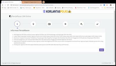 Layanan SIM Online di alamat http://sim.korlantas.polri.go.id/devregistrasi/