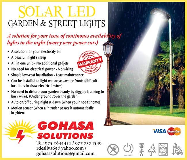 Gohasa - Solar LED Garden & Street Lights.