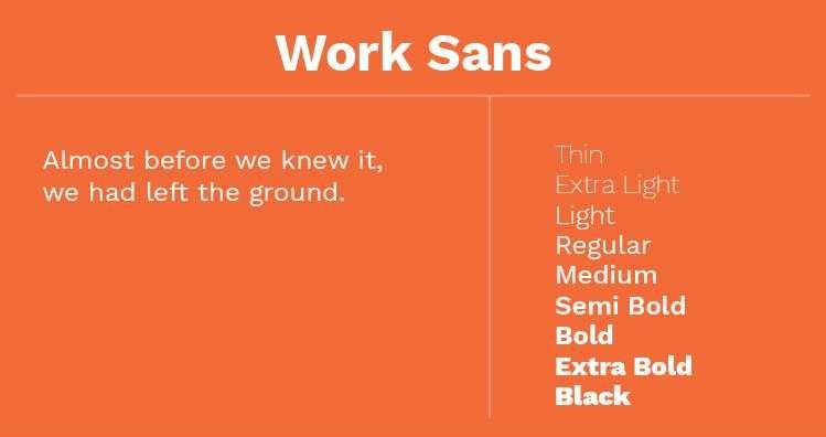 Font Terbaik Untuk Website Salah Satunya Adalah Work Sans