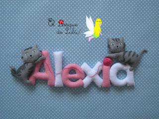 nombre-fieltro-decoración-Alexia-elbosquedelulu-hechoamanoparati-regalo-personalizado-fieltro-felt-feltro-name-banner-babyroom