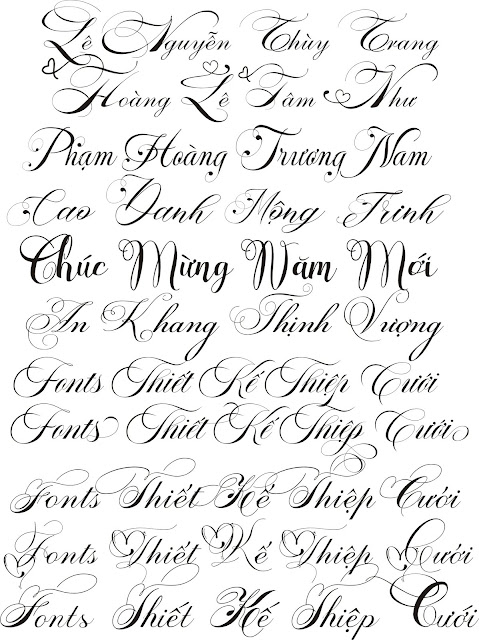 Fonts wedding