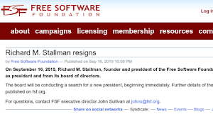 Richard M. Stallman si dimette dalla Free Software Foundation