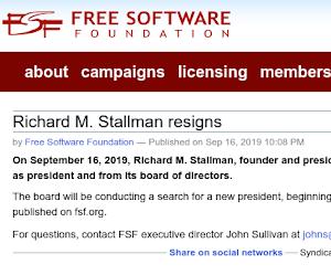 Richard M. Stallman si dimette dalla Free Software Foundation