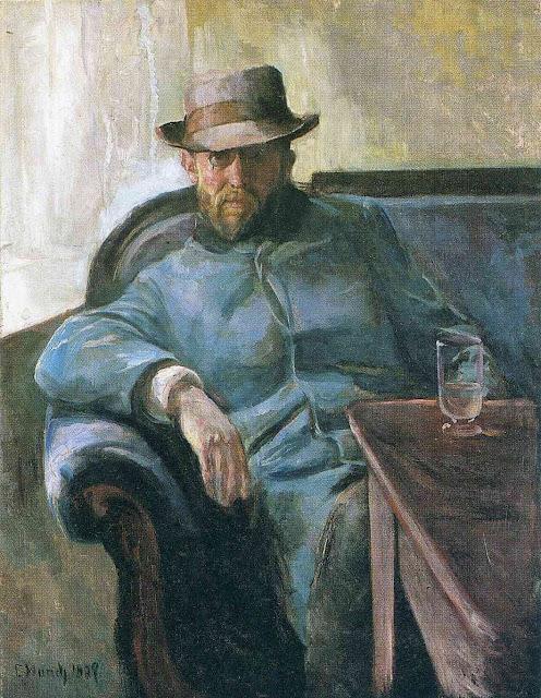 Эдвард Мунк - Писатель Ганс Йегер. 1889
