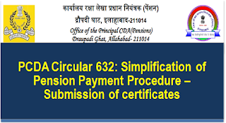 pcda-circular-632-simplification-of-pension-payment-procedure-submission-of-certificates