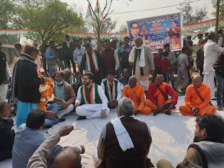 तनुज पुनिया ने कांग्रेस स्थापना दिवस के अन्तिम दिन संदेश यात्रा के दौरान कार्यकर्ताओं को किया संबोधित