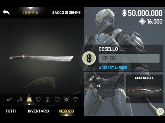 Infinity Blade III 50 000 000 Cash, 16 000 Gems, & A few