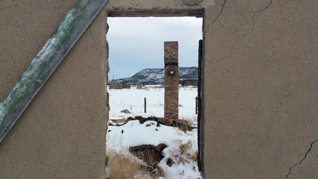 Abandoned buildings of Ludlow Colorado Ghost Town