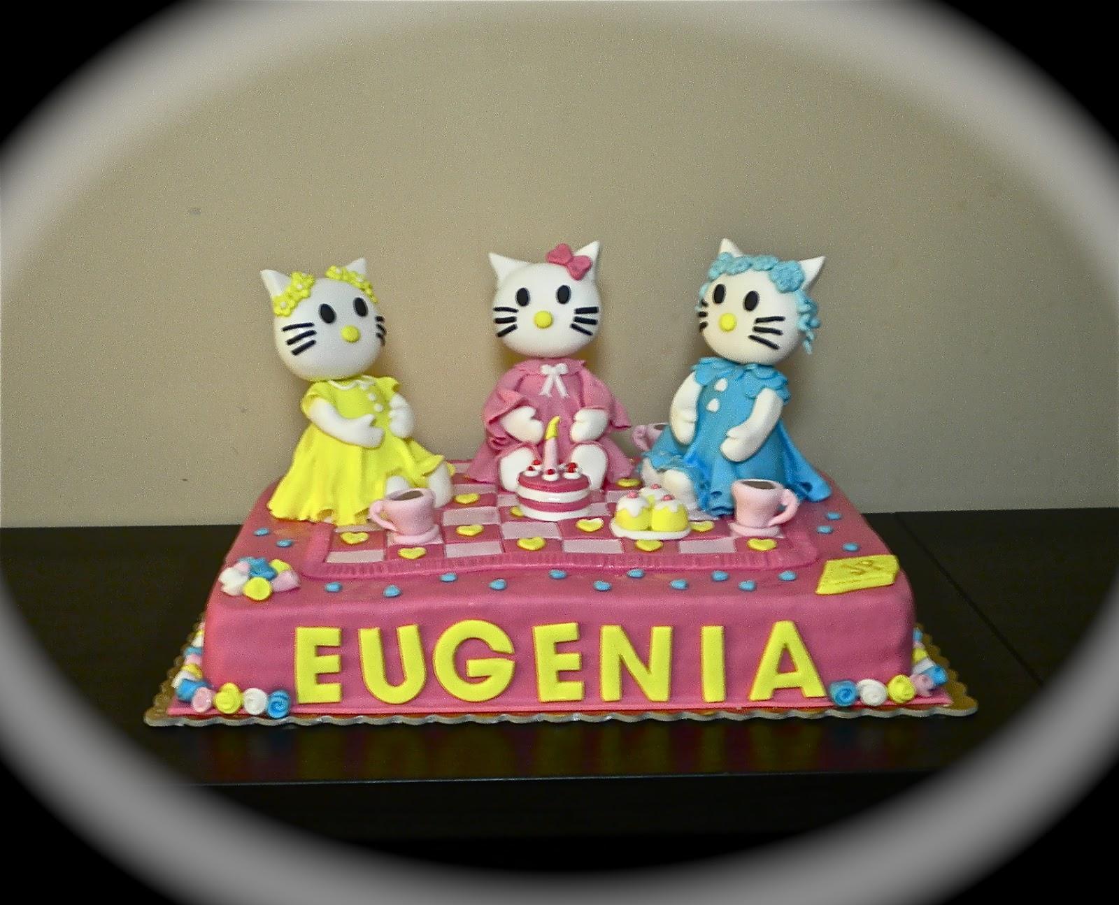 Eccezionale LE TORTE DI PATRICIA: Torta Hello Kitty per la piccola Eugenia VZ31