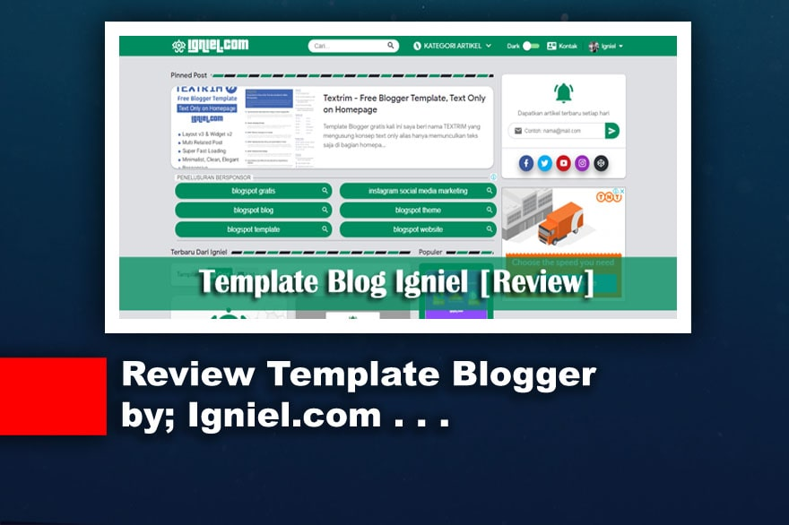 Review Template Blogger buatan Igniel.com