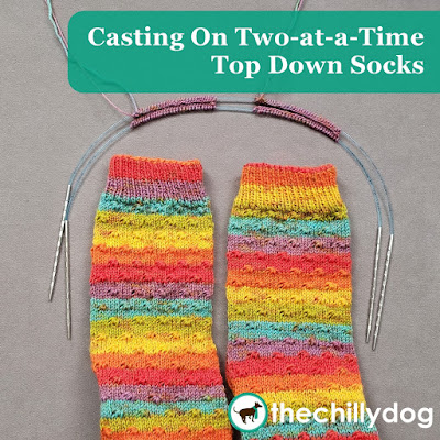 Knitting Video Tutorial: Learn how to cast on two at a time socks from the top down