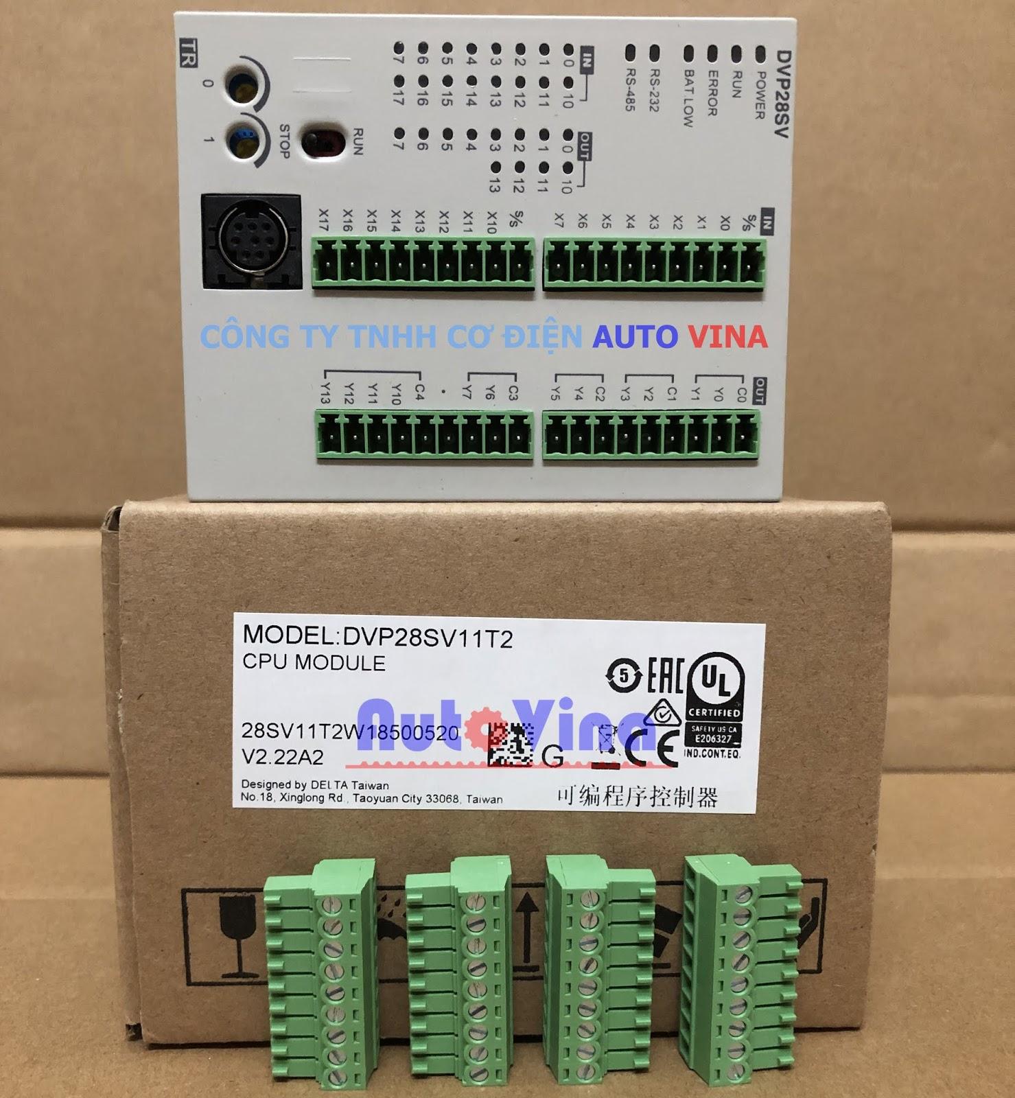 Đại lý bán PLC Delta DVP28SV11T2 hàng có sẵn, giá rẻ nhất