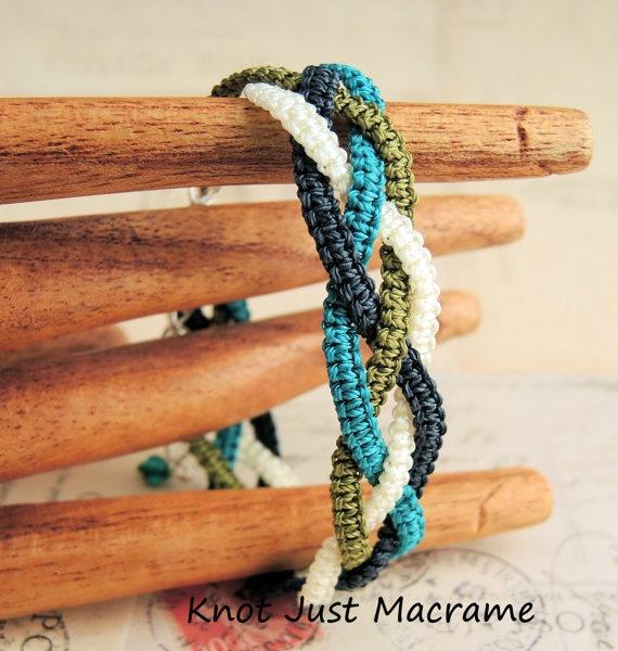 Braids in Micro Macrame bracelet class by Sherri Stokey.