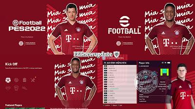 PES 2021 Menu Mod Pack FC Bayern Munchen 2021/2022 by PESNewupdate