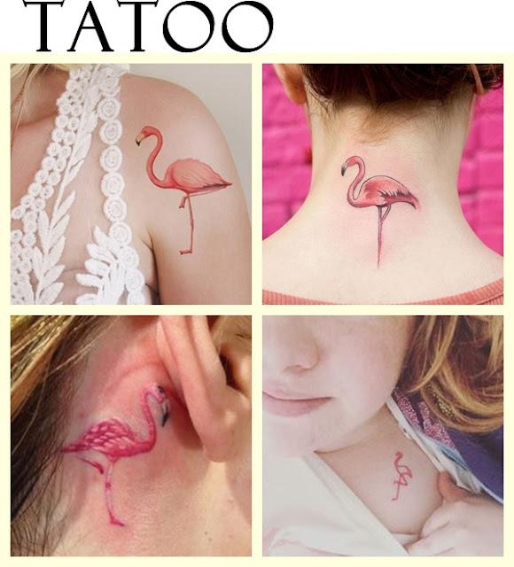 Tatuagem flamingos
