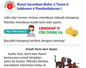 Kunci Jawaban Kelas 2 Tema 8 Subtema 4 Pembelajaran 1 www.simplenews.me