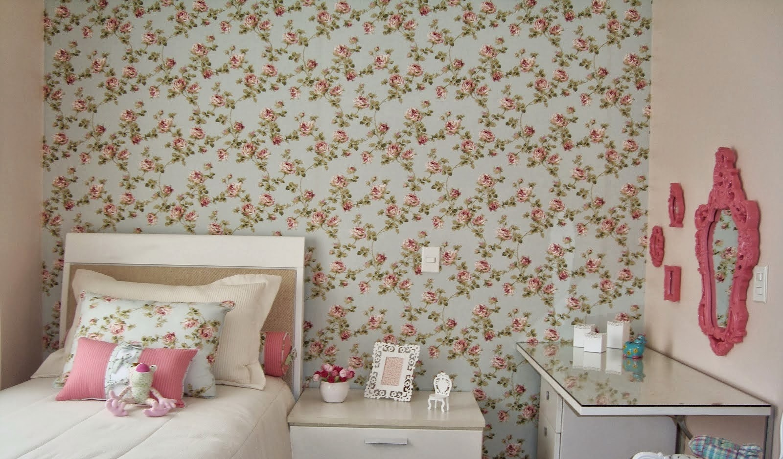 Mil mudan as decora o quarto floral - Papel paredes vintage ...