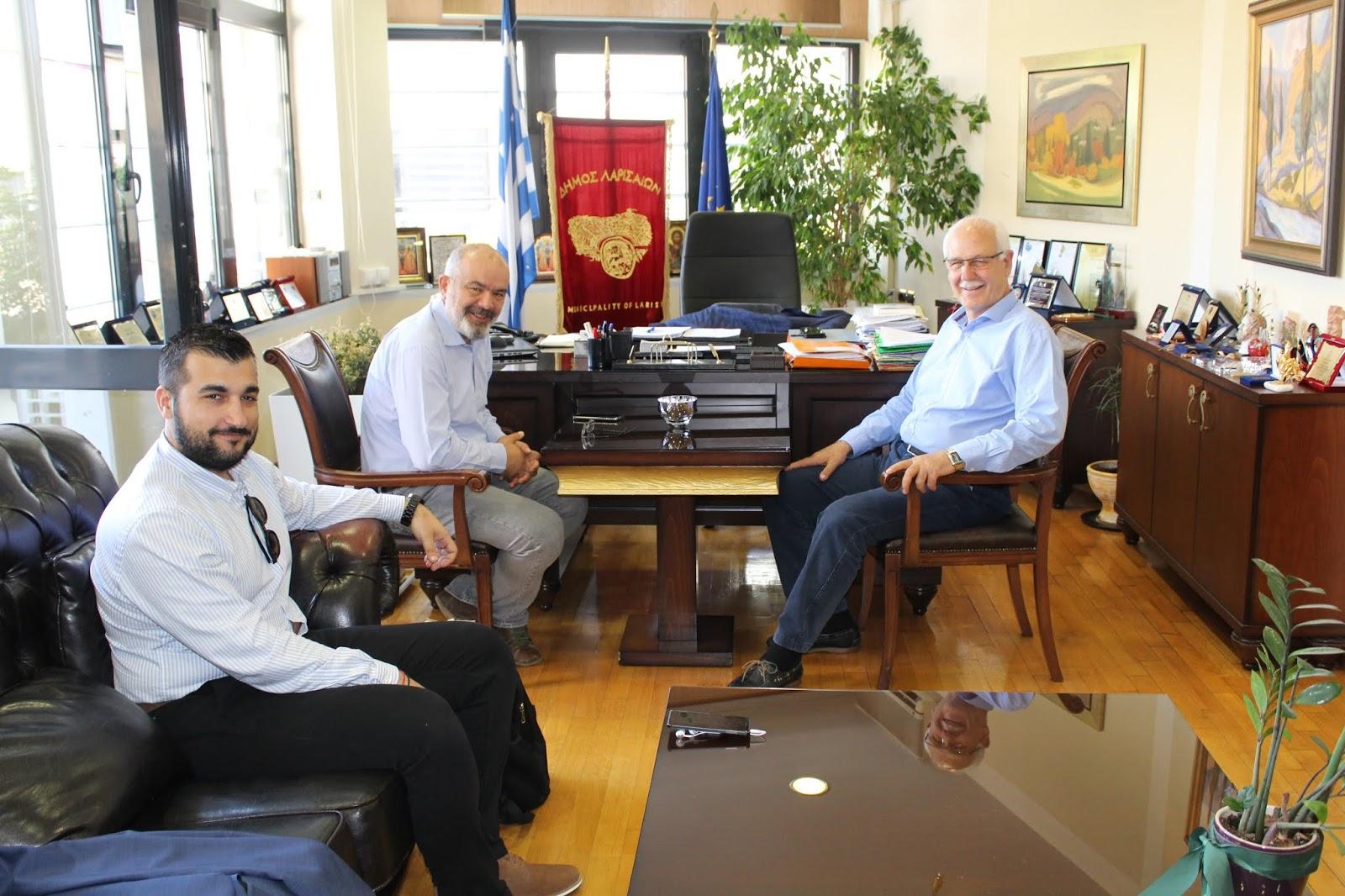 Συνάντηση Μπαργιώτα-Καλογιάννη στο Δήμο Λαρισαίων