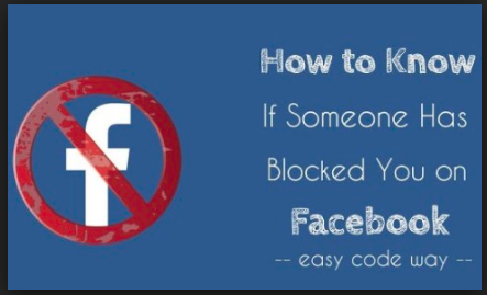 how to find if someone has blocked you on facebook