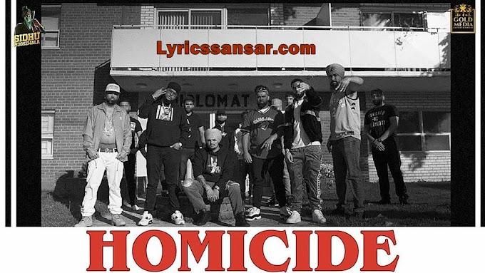 Homicide Lyrics - Sidhu Moose Wala Feat Big Boi Deep