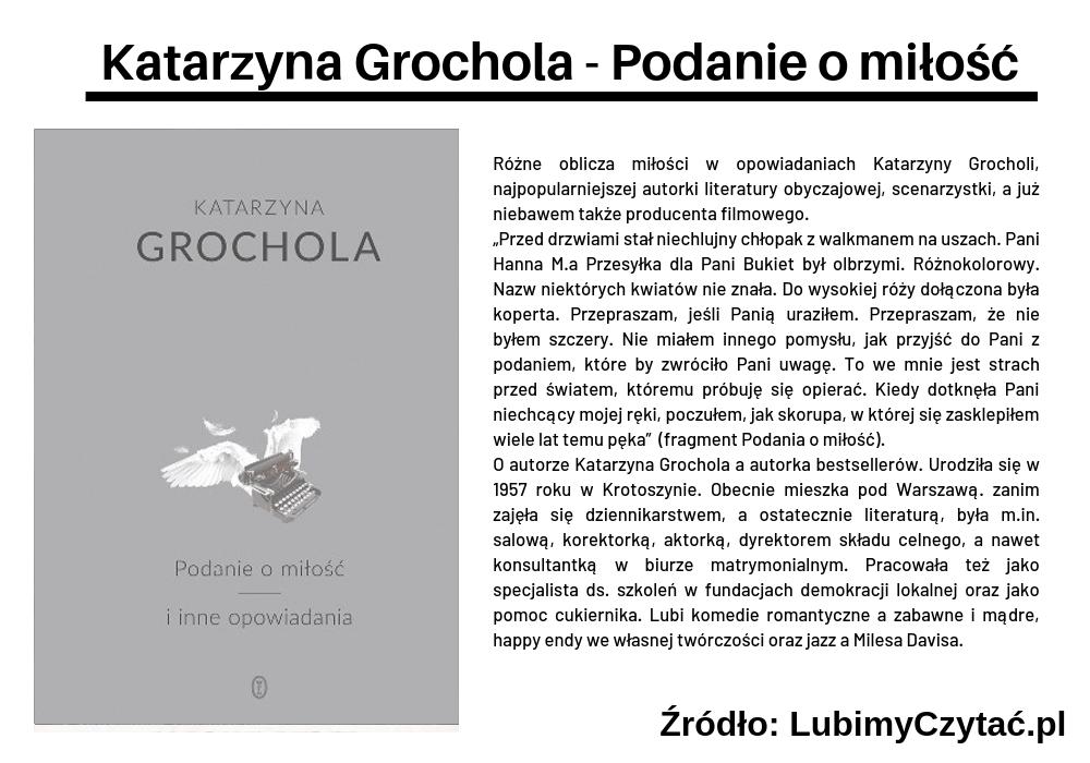 Katrzyna Grochola - Podanie o miłość, Cykl książkowy, Marzenie Literackie